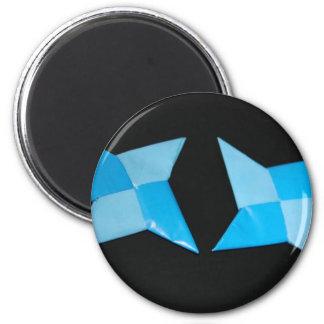 Chinese ninja throwing stars 2 inch round magnet