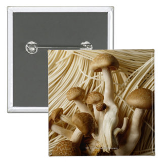 Chinese noodles and mushrooms 2 inch square button