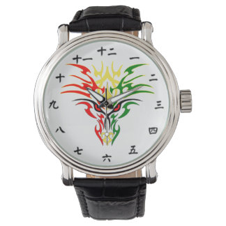 Chinese Number and Jamaican Dragon Design Watch