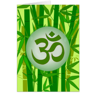 Chinese OM greeting card