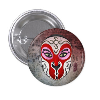 Chinese Opera Masks - The Monkey King 1 Inch Round Button