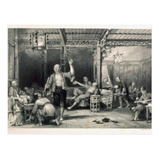 Chinese Opium Smokers, from 'China in a Series of Postcard
