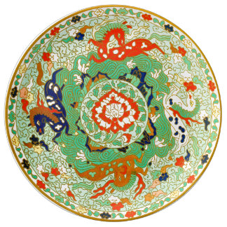 Chinese Ornamental Design Plate