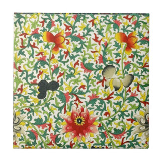 Chinese Ornamental Floral Art Tile