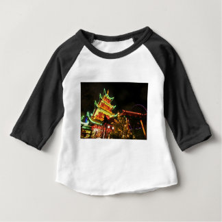 Chinese pagoda at night baby T-Shirt