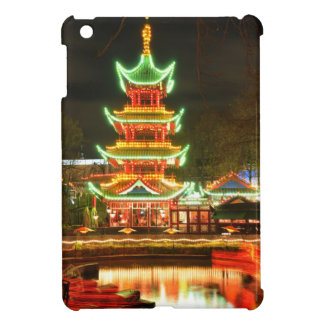 Chinese pagoda at night case for the iPad mini