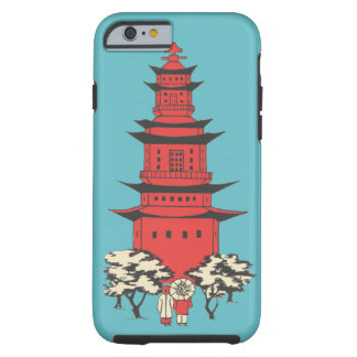 Chinese Pagoda Vintage Case-Mate Cell Phone Case