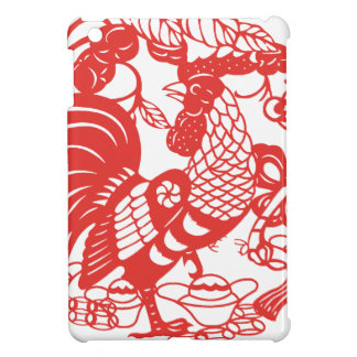 Chinese Papercut Rooster Year 2017 Ipad Case For The iPad Mini