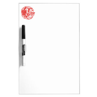 Chinese Papercut Rooster Year Dry E Board Dry Erase White Board