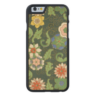 Chinese Pattern Cloisonne Carved Maple iPhone 6 Case