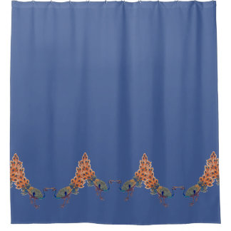Chinese Peacock Birds Animals Shower Curtain