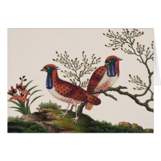 Chinese Pheasants Greeting Card