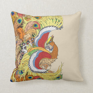chinese phoenix feng huang throw pillow