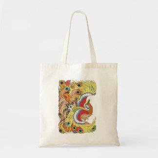 Chinese phoenix feng huang tote bag
