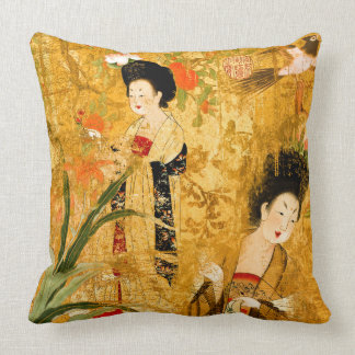 "Chinese princesses in the garden Pillow 20"" x 20"""