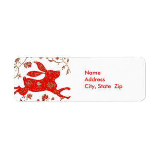 Chinese Rabbit Astrology Avery Label Return Address Label
