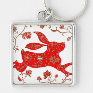 Chinese Rabbit Astrology Keychain
