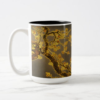 Chinese Ram, Moon and Plum Blossoms Mug