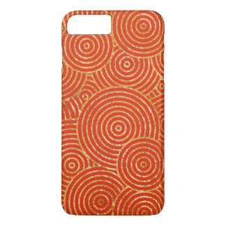 Chinese red and faux gold foil rings iPhone 8 plus/7 plus case