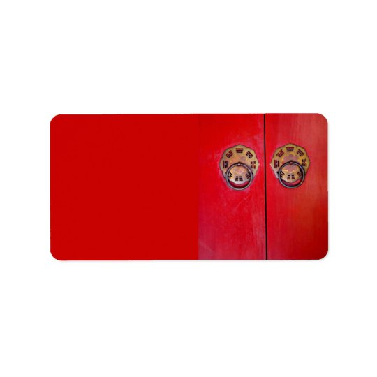 Chinese Red Door Wedding Address/Shipping Labels