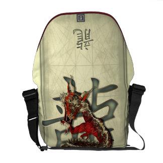 Chinese Red Dragon Messenger Bag