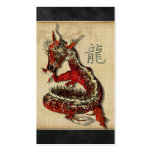 Chinese Red Dragon Profile Cards Business Card Template
