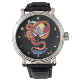 Chinese Red Dragon Watch