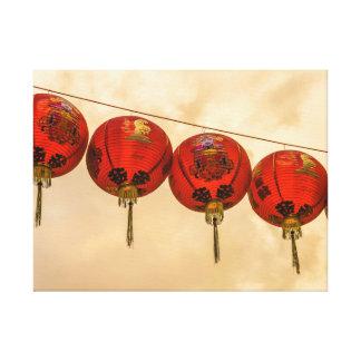 Chinese red lanterns canvas print