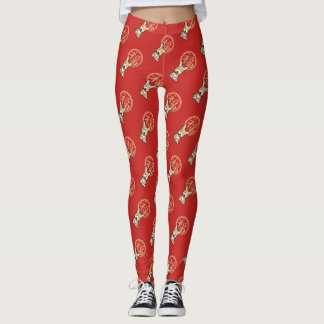 Chinese Red Lucky Money Year of the Dog Envelope Leggings
