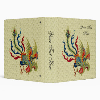 Chinese Rooster Art Design Binder