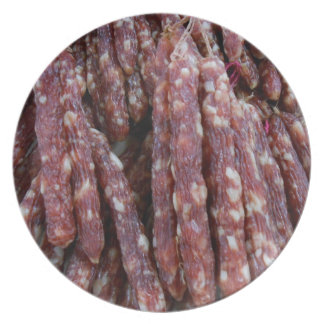chinese sausages dinner plate