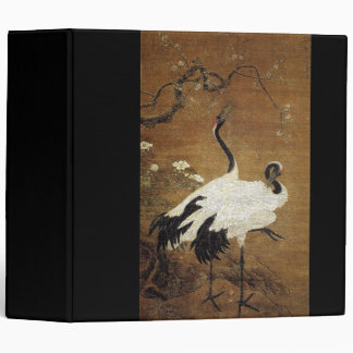 Chinese Scroll Art Crane Birds Floral Avery Binder