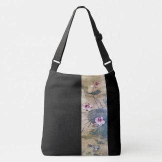 Chinese Scroll Art Lotus Flowers Ducks Tote Bag