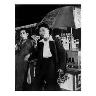 Chinese Seamen Eat Junk Food, 1942 Postcard