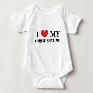 chinese shar love baby bodysuit