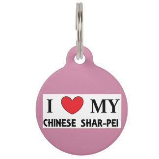 chinese shar love pet ID tag