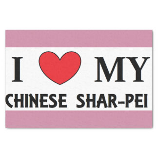 chinese shar love tissue paper
