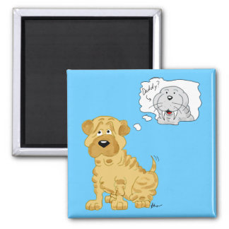 Chinese Shar-Pei and Walrus Magnet