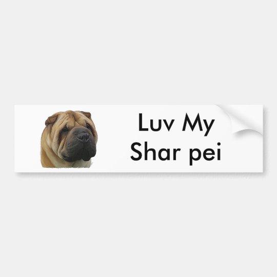 Chinese shar pei bumper sticker