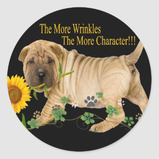 Chinese Shar-Pei Character Gifts Classic Round Sticker