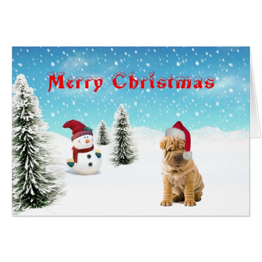 Chinese Shar-pei Christmas Card