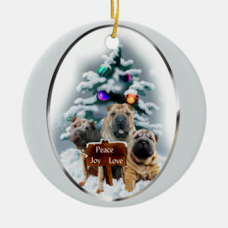 Chinese Shar-Pei Christmas Gifts Ornament