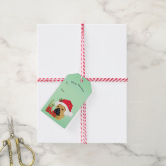 Chinese Shar-Pei Christmas with Poinsettia Gift Tags