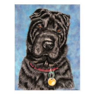 Chinese Shar-Pei Dog Art - Tia Postcard