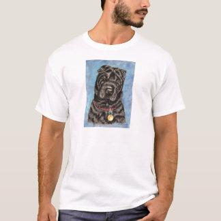 Chinese Shar-Pei Dog Art - Tia T-Shirt