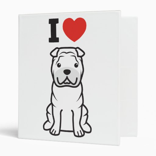 Chinese Shar-Pei Dog Cartoon Vinyl Binder