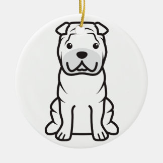 Chinese Shar-Pei Dog Cartoon Ceramic Ornament
