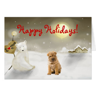 Chinese Shar pei Holiday Card