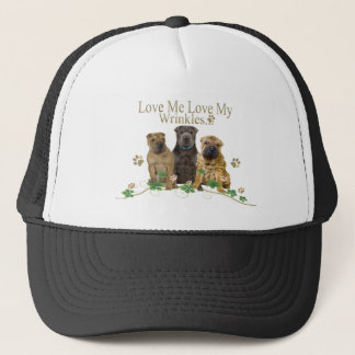 Chinese Shar-Pei Love My Wrinkles Apparel Trucker Hat