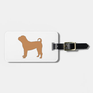 chinese shar pei luggage tag